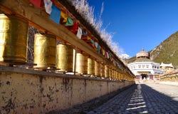 tempel tibet Royaltyfri Bild