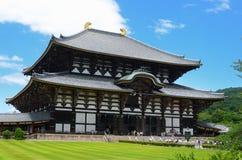 Tempel Todai -todai-ji in Nara, Japan Royalty-vrije Stock Afbeelding