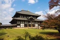 Tempel Todai -todai-ji in Nara, Japan Stock Foto's