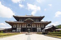 Tempel Todai -todai-ji van Nara, Japan Stock Foto's