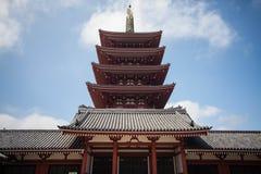 tempel tokyo för senso för asakusajapan ji Royaltyfri Fotografi