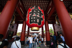 tempel tokyo för senso för asakusajapan ji Arkivfoto