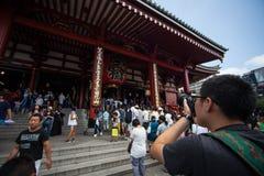 tempel tokyo för senso för asakusajapan ji Fotografering för Bildbyråer