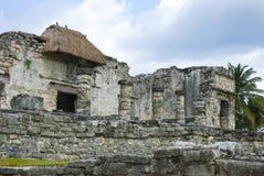 Tempel in tulum, Cancun, Mexico Royalty-vrije Stock Foto's