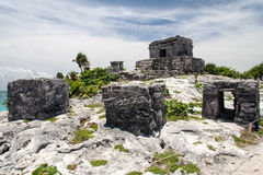 Tempel Tulum Mexiko Stockbild