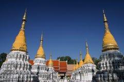 Tempel twintig Stupa in Thailand Stock Fotografie