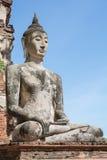 Tempel u. Buddha in Ayutthaya, ungesehen von Thailand Stockfoto