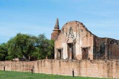 Tempel u. Chedi in Ayutthaya, ungesehen von Thailand Lizenzfreies Stockbild