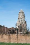 Tempel u. Chedi in Ayutthaya, ungesehen von Thailand Stockbild