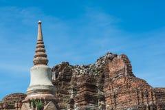 Tempel u. Chedi in Ayutthaya, ungesehen von Thailand Lizenzfreies Stockfoto