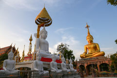 Tempel Ubon Ratchathani Wat Tai, THAILAND - 1. Januar 2015: Wat Tai Stockfotografie