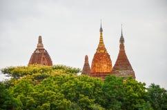 Tempel und Pagoden in den Bagan-Ebenen, Myanmar Lizenzfreie Stockfotos