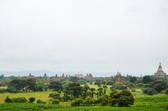 Tempel und Pagoden in den Bagan-Ebenen, Myanmar Stockfotografie