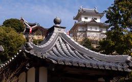 Tempel und Schloss lizenzfreie stockbilder