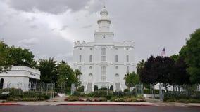tempel utah för george mormonst royaltyfri fotografi