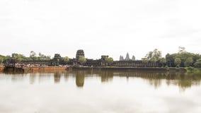 Tempel van Angkor, Angkor Wat - een reuze Hindoese tempel complex in Kambodja, Royalty-vrije Stock Foto