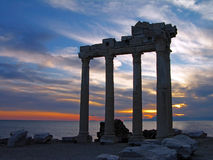 Tempel van Apollo, Kant, Turkije Stock Foto