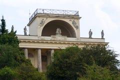 Tempel van Apollo in lednice-Valtice cultureel landschap, Moravië, Tsjechische Republiek stock afbeelding