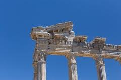 Tempel van Apollo in oude Kant in Turkije Stock Fotografie