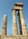 Tempel van Apollo - Rhodos stock foto