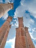 Tempel van Artemis in Jerash, Jordanië. Royalty-vrije Stock Foto's