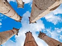Tempel van Artemis in Jerash, Jordanië. Royalty-vrije Stock Foto
