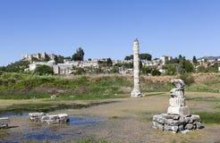 Tempel van artemis Selcuk Turkije Royalty-vrije Stock Afbeelding