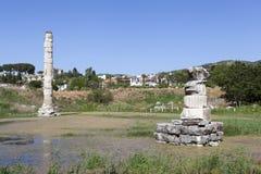 Tempel van artemis Selcuk Turkije Royalty-vrije Stock Afbeeldingen