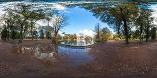 Tempel van Asclepius in het park van Villaborghese Royalty-vrije Stock Foto's