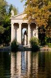 Tempel van Asclepius in Rome Stock Foto