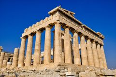 Tempel van Athena, Parthenon, Athene, Griekenland royalty-vrije stock foto