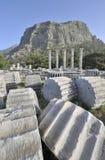 Tempel van Athena in Priene stock afbeelding