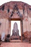Tempel van Ayutthaya, Thailand Stock Afbeelding