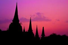 Tempel van Ayutthaya, Thailand Royalty-vrije Stock Foto's