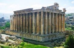 Tempel van Bacchus in Baalbek Stock Afbeelding