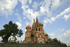 Tempel van Basilicum Heilig, Moskou, Rusland, Rood Vierkant Royalty-vrije Stock Foto