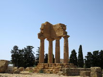 Tempel van Bever en Pollux Royalty-vrije Stock Foto