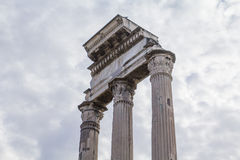 Tempel van Bever en Pollux in Rome Royalty-vrije Stock Foto's
