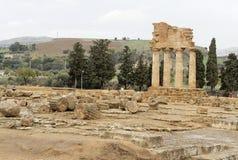 Tempel van Bever en Polux Stock Afbeelding