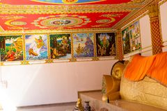 Tempel van Boeddhisme in Laos stock fotografie