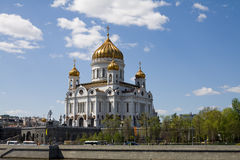 Tempel van Christus de redder in Moskou Stock Foto's