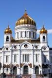 Tempel van Christus de Verlosser in Moskou Royalty-vrije Stock Afbeeldingen