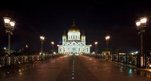 Tempel van Christus van de Verlosser. Moskou Stock Afbeeldingen
