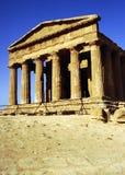 Tempel van Concordia, Agrigento Stock Foto's