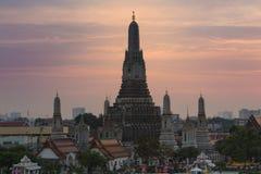 Tempel van Dawn of Wat Arun Royalty-vrije Stock Foto's
