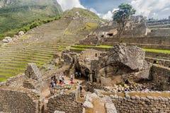 Tempel van de Condor Machu Picchu stock foto