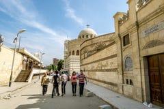 Tempel van de Heilige grote martelaar George zegevierend in Kaïro Stock Foto