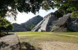 Tempel van de Inschrijvingen. Mayan ruïnes, Mexico Royalty-vrije Stock Foto