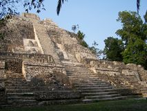 Tempel van de Jaguar. Lamanai. royalty-vrije stock afbeeldingen