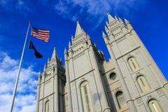 Tempel van de Kerk van Jesus Christ van laatstgenoemde-Dagheiligen in Zout Stock Foto's